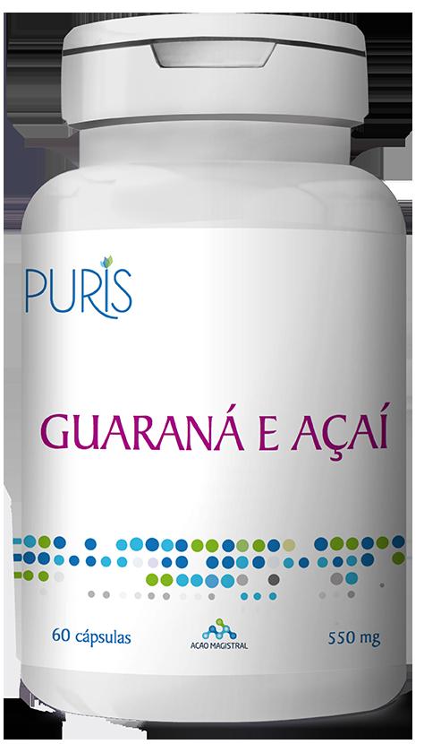 Guaraná e Açaí 60 Cápsulas - PURIS