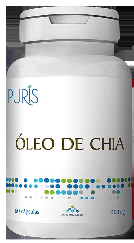 Óleo Chia 500mg 60 Cápsulas - PURIS