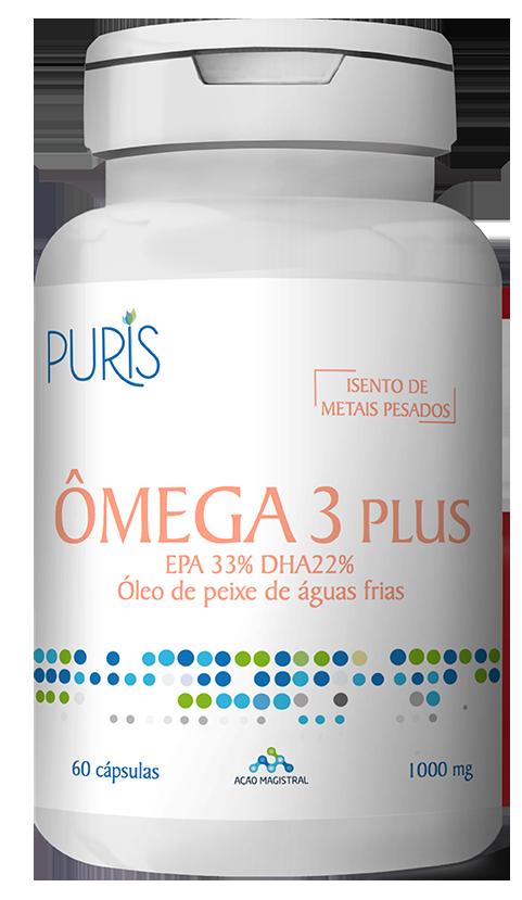 Ômega 3 PLUS - 60 cápsulas - PURIS