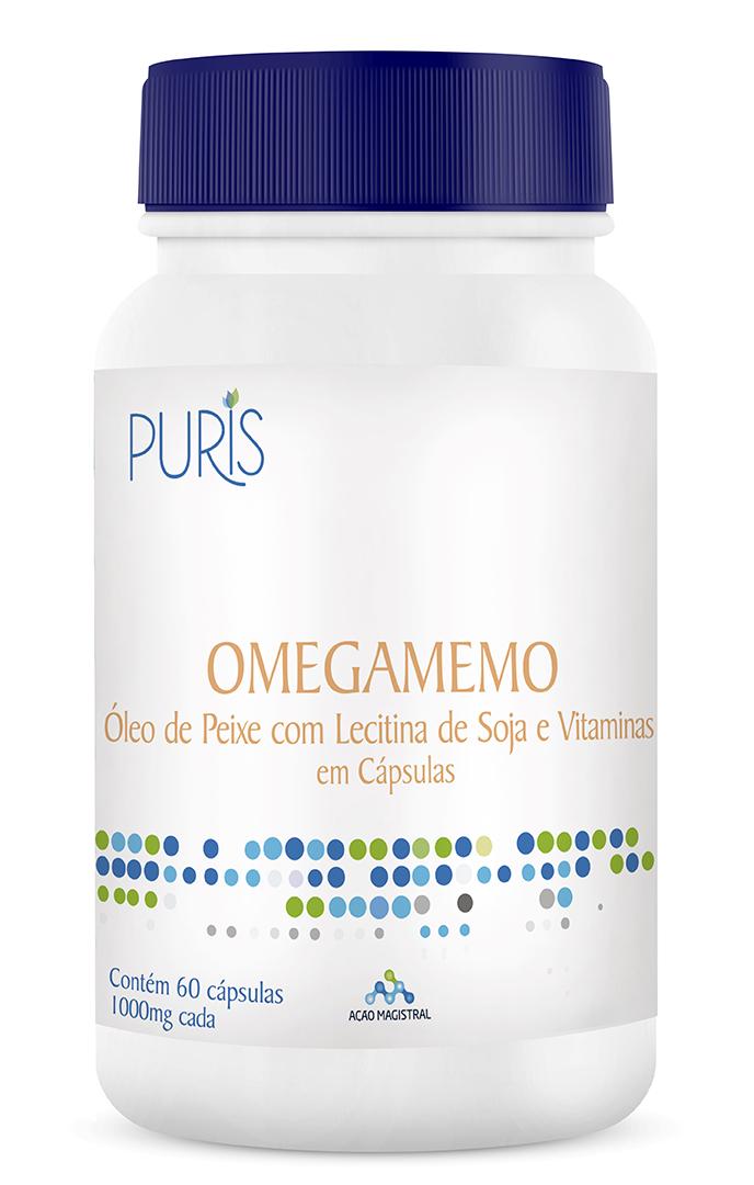 Omegamemo 1000mg 60 Cápsulas - PURIS