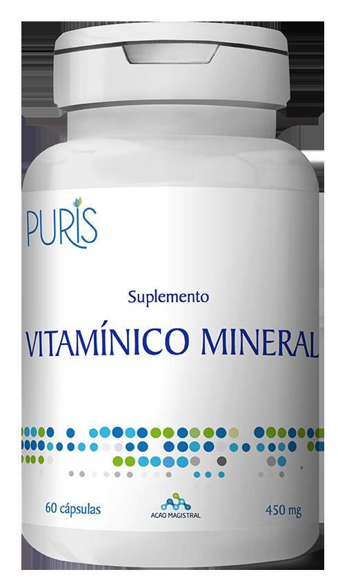 Suplemento Vitamínico Mineral 60 Cápsulas - PURIS