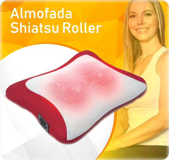 almofada de massagem shiatsu roller physical