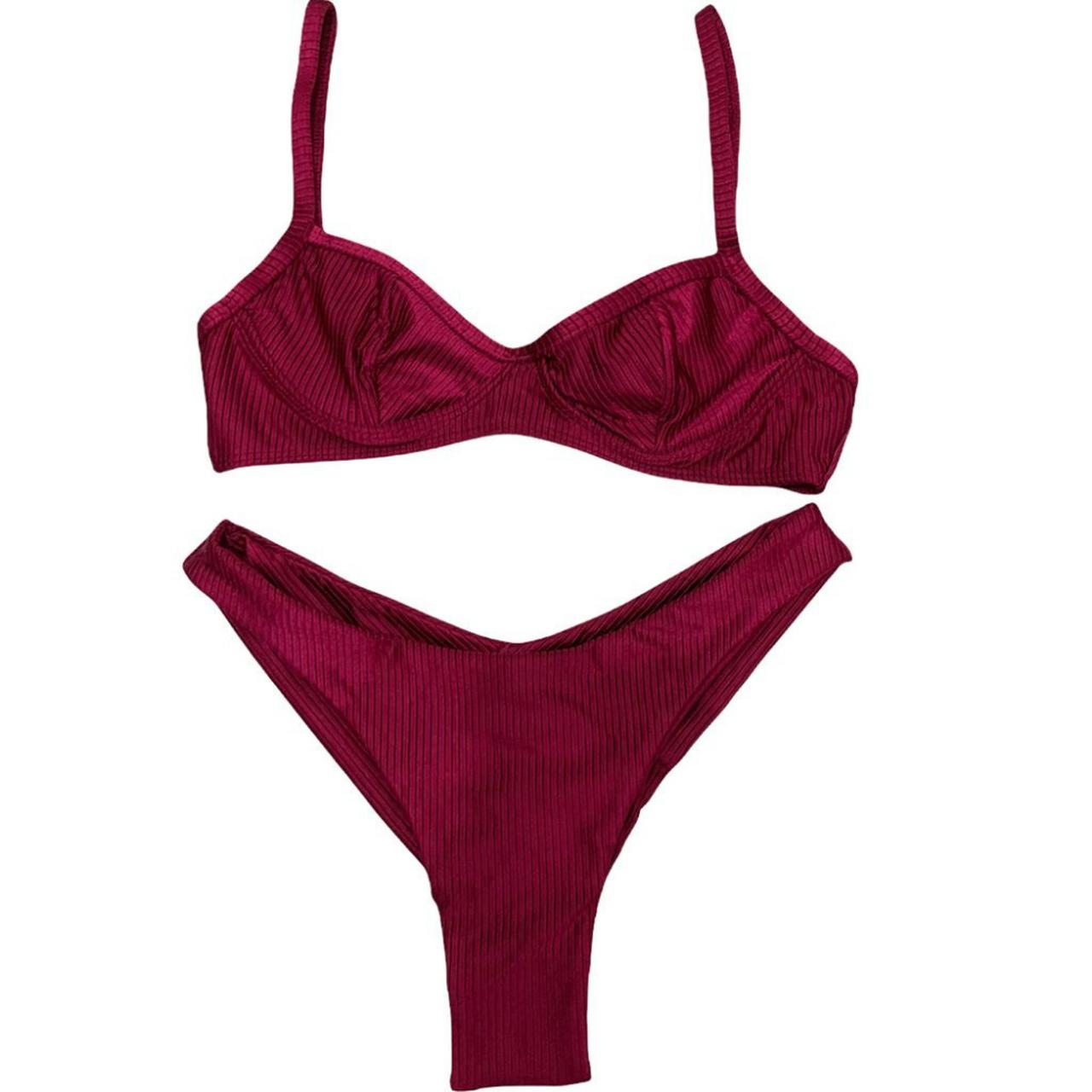 Biquini asa delta V com top 1/2 taça texturizado rosa desejo