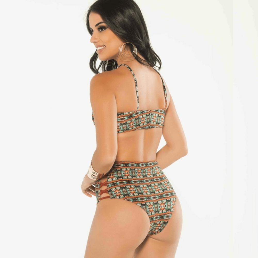 Biquíni Hot Pant trançado