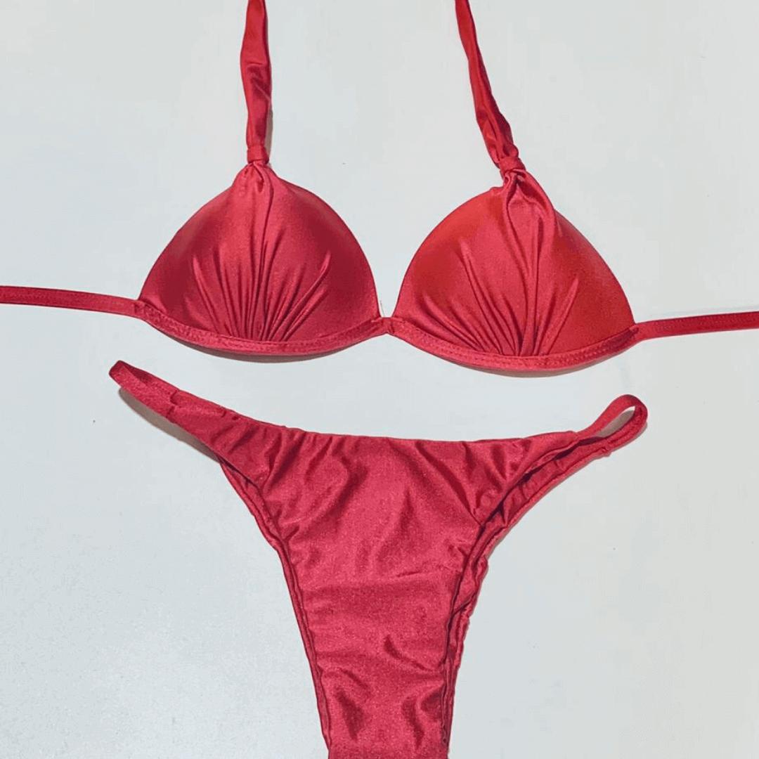 Biquíni tanga trilobal rosa