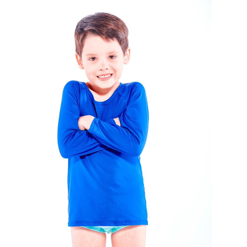 Blusa infantil UV 50+ Azul Royal