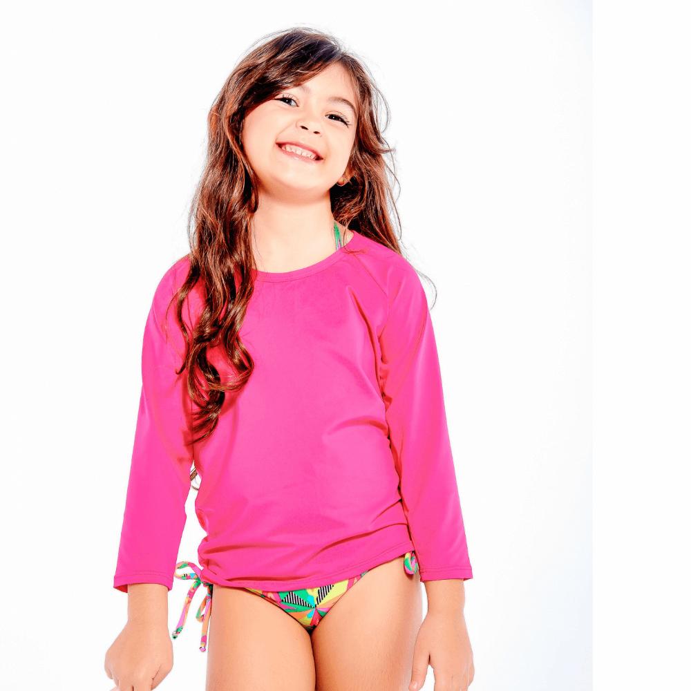 Blusa infantil UV 50+ Rosa Pink