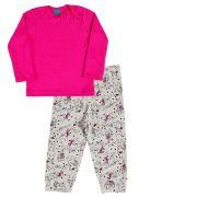 Pijama primeiros passos manga longa cachorro buldog