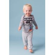 Pijama primeiros passos menino calça e blusa manga longa Descobrindo o universo