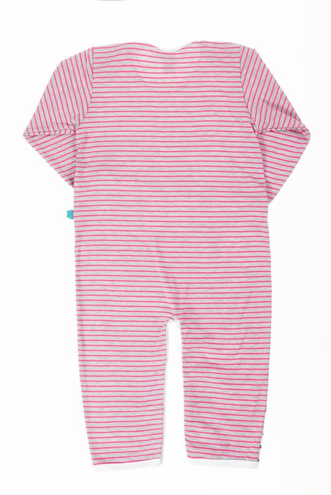 Macacão bebê menina manga longa bichinhos