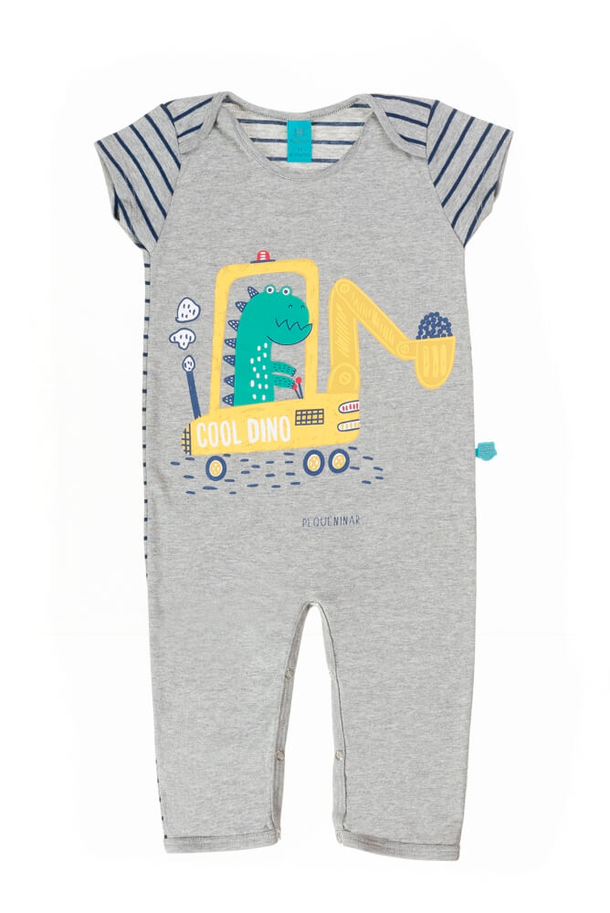 macacão bebê menino manga curta Dinossauro