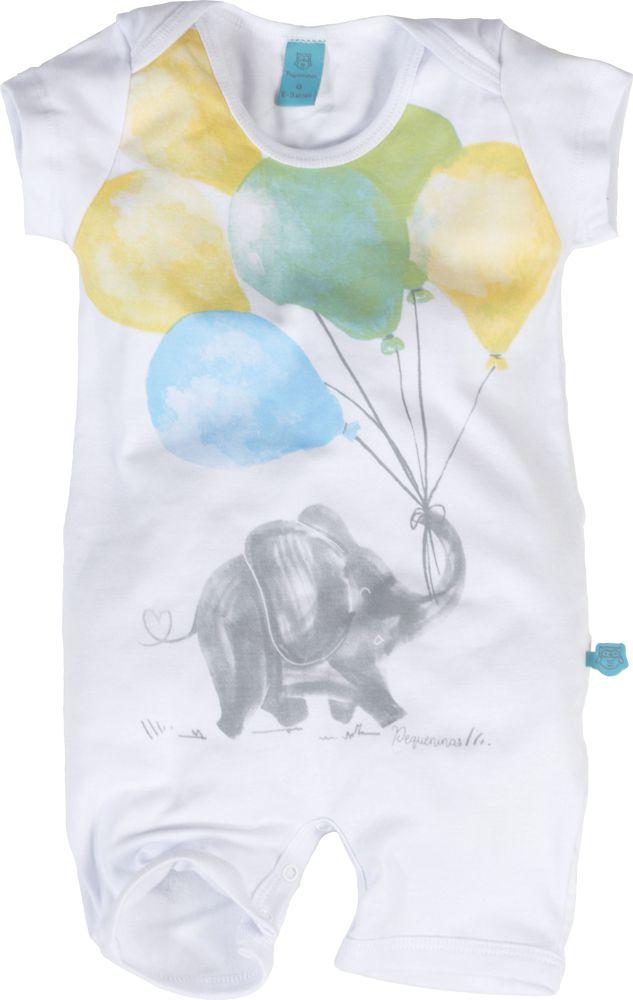 macaquinho bebe menino elefante com baloes