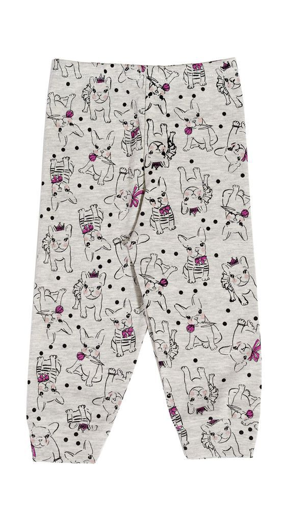 Pijama bebê manga longa cachorro buldog