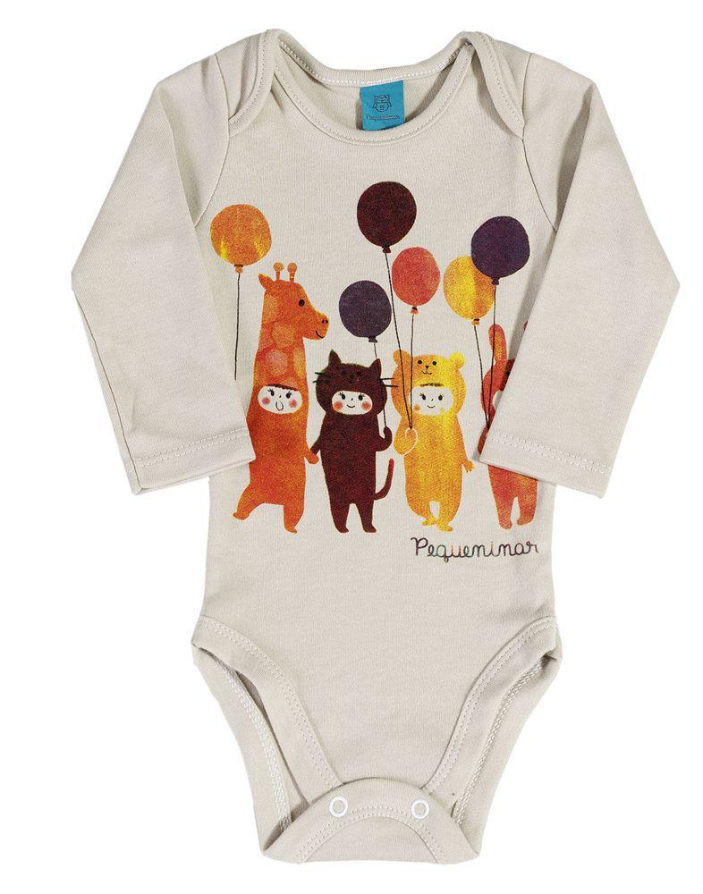 Pijama bebê manga longa festa balões