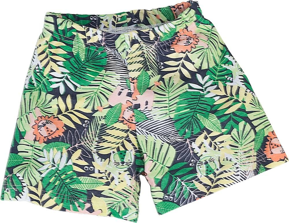 Pijama primeiros passos manga curta leão na floresta