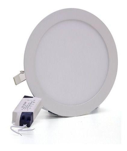 Painel Plafon 25w Led Redondo Embutir Branco Frio 29,5cm