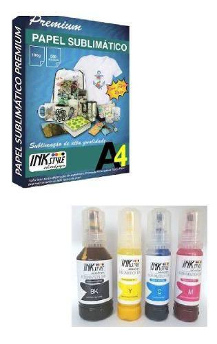 Tinta Sublimatica L4150 + 100 Folhas A4 Pra Sublimação 110g