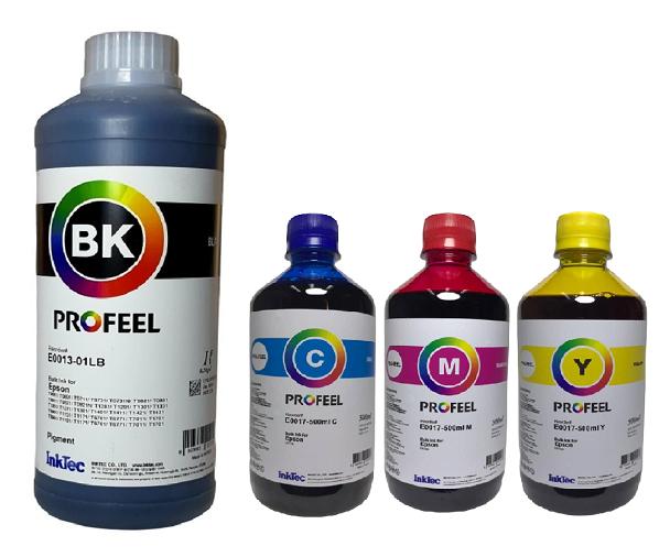 1 Litro Tinta Black Pigmentada E0013 + 3 Unidades de  500ml Coloridas Corante E0017