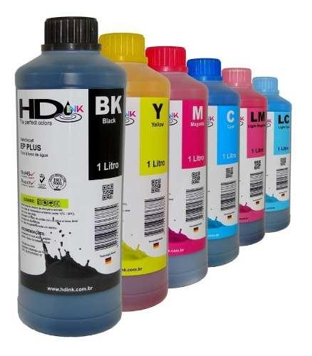 1 Litro Tinta Corante Para Impressora Epson Plus HdInk