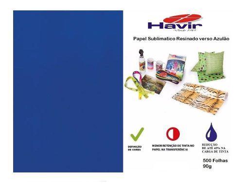 500 Folhas A4 Resinado Pra Sublimação Havir Fundo Azulão 90g