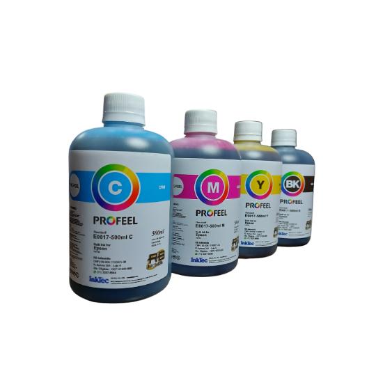 4 Unidades de 500ml Tinta Epson Corante Inktec Profeel E0017 L355 L365 L375 L380 L395 L396 L3110 L4150 L4160