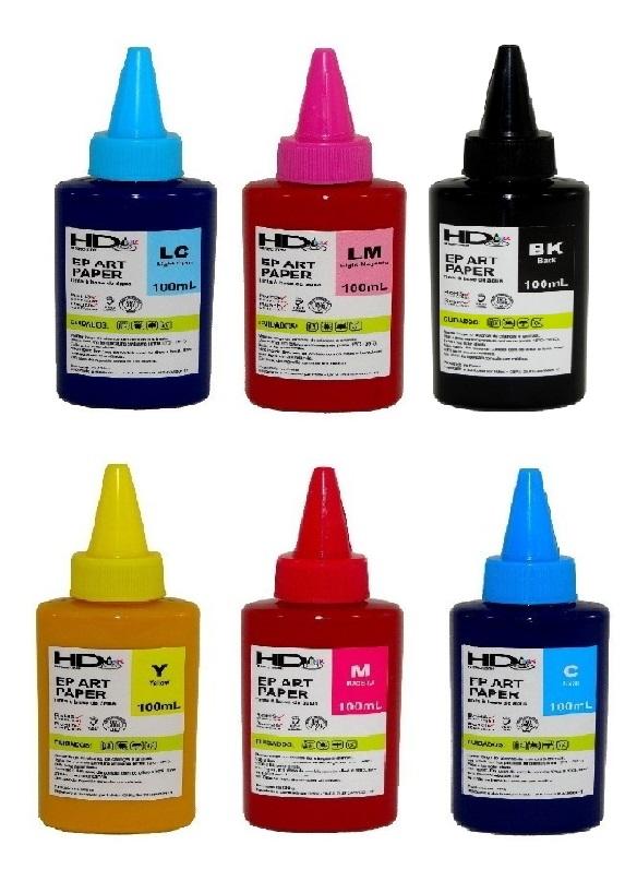 Tinta Pigmentada Epson Art Paper Para Impressão em Couchê - 6 Unidades de 100ml