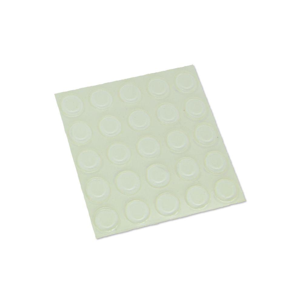 Batente Auto-Adesivo  POINT Cilíndrico Transparente 12,7mm X 1,5mm   Cartela 25 peças