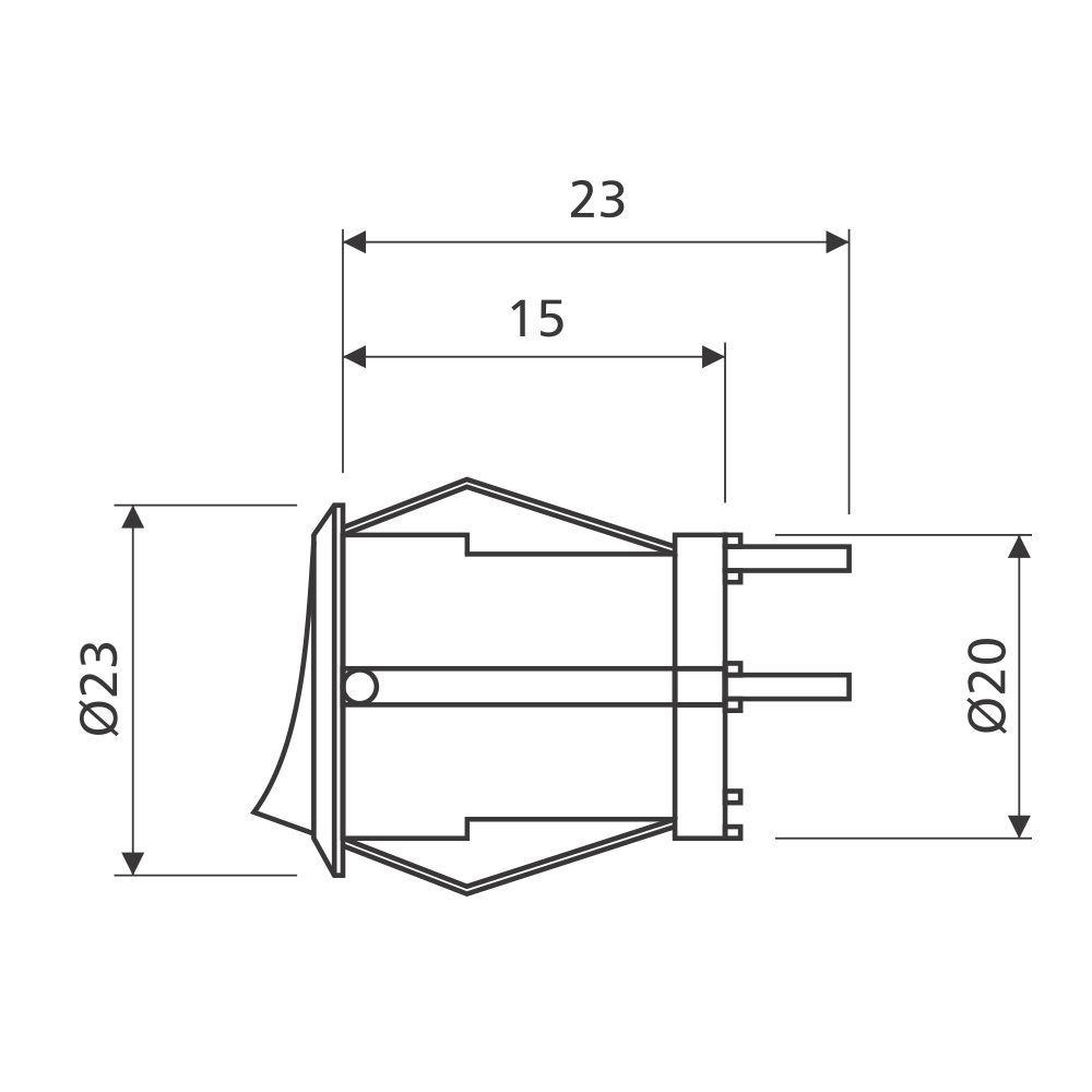 Interruptor Cilíndrico Point para Embutir