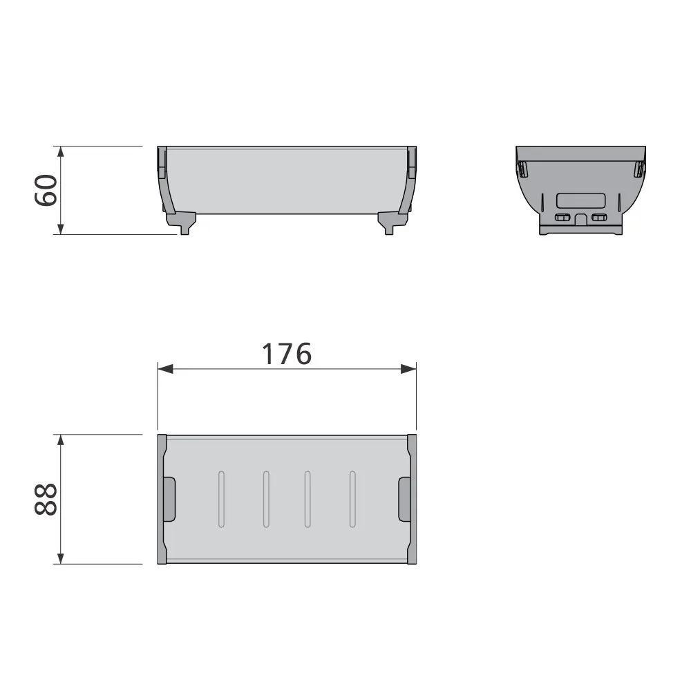 Organizador de Talheres Point Aço Inox - 88 x 176 mm