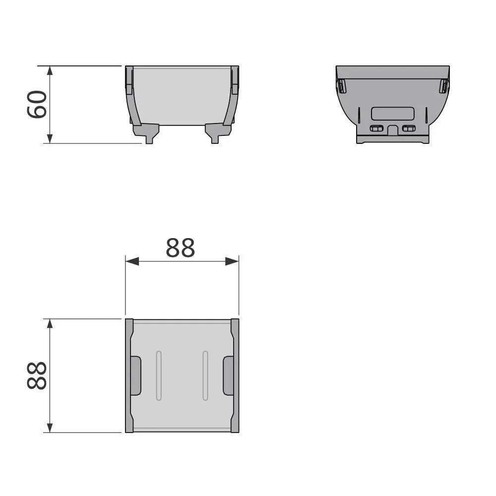 Organizador de Talheres Point Aço Inox - 88 x 88 mm