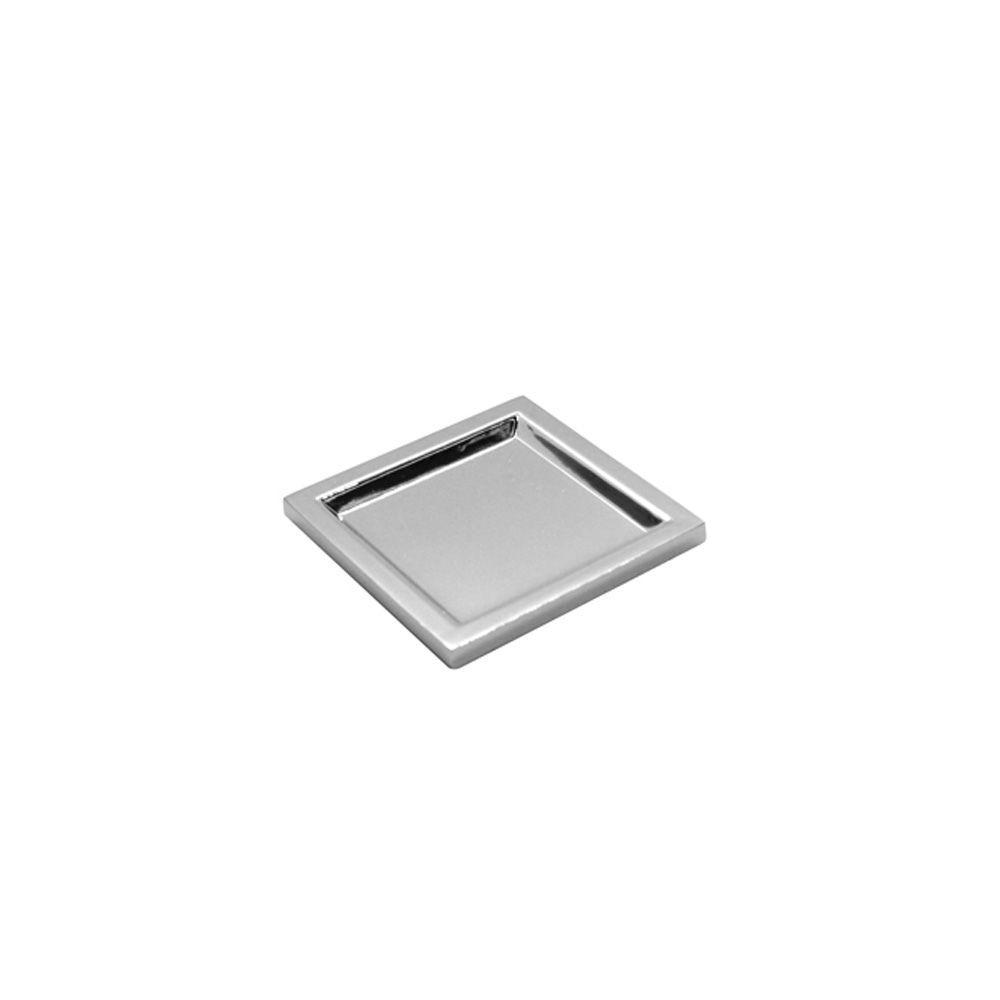 Puxador Concha Point Cromo Brilho 50 x 50mm