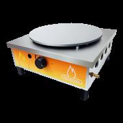 Crepeira a Gás em Aço Inox 1 Disco Simples - Metalmaq