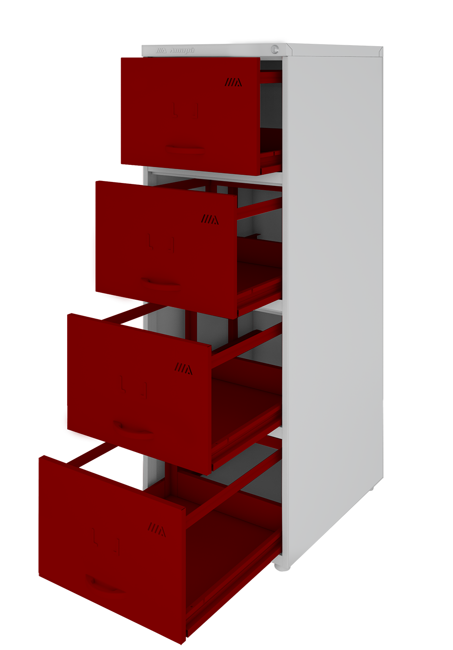 Arquivo de aço com 4 gavetas curtas - Amapá