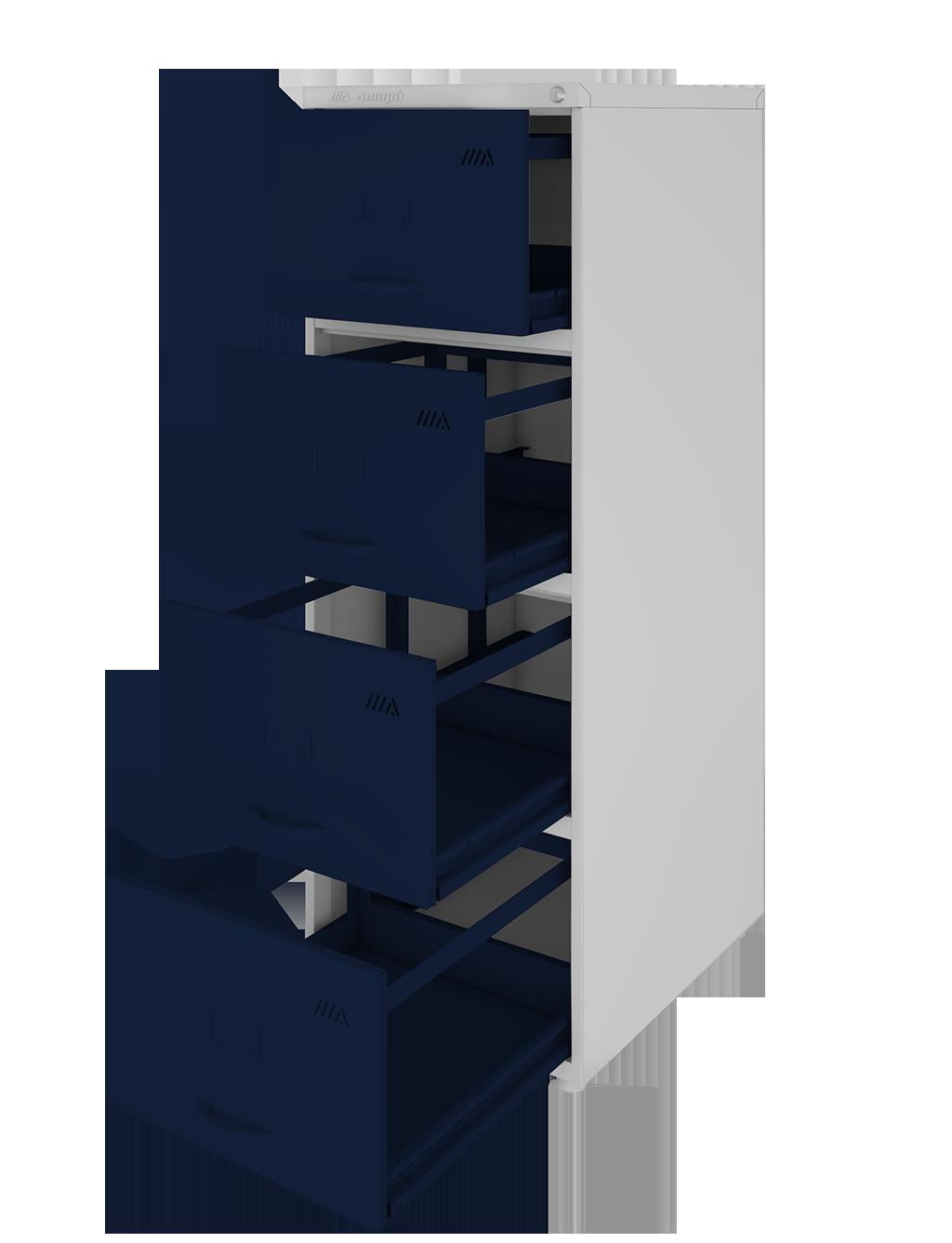 Arquivo de aço com 4 gavetas longas - Amapá