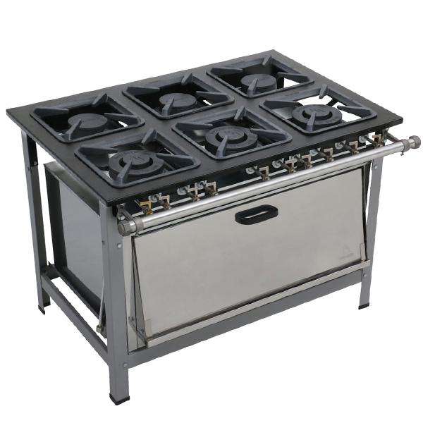 Fogão Dual Chef 6 Bocas 30x30 Com Super Forno - Metalmaq