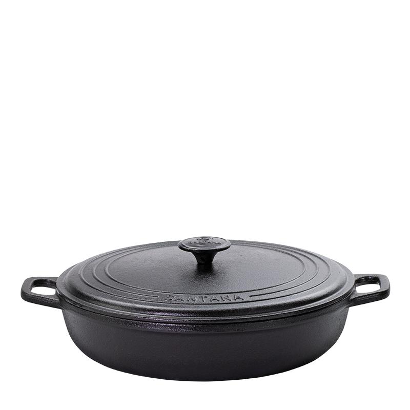 Paella com tampa de ferro 2,75L e 4L Santana