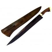 Faca artesanal negra disco de arado tatu marchesan 14 polegadas
