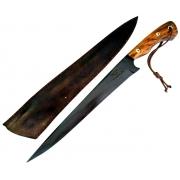 Faca artesanal templo das facas modelo jack boar 13 polegadas