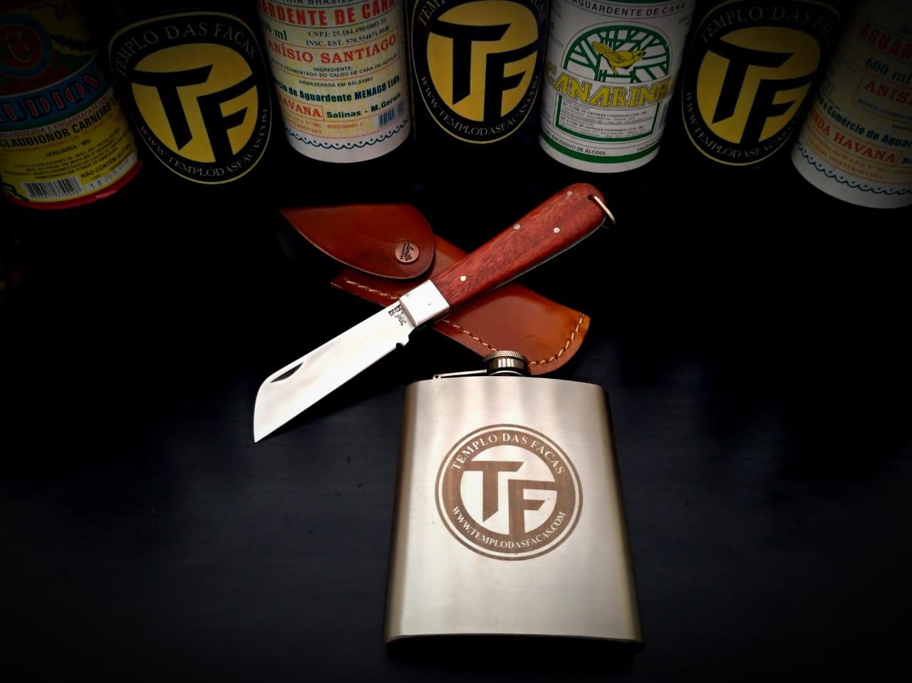 Canivete artesanal em aço inox cabo cabreúva