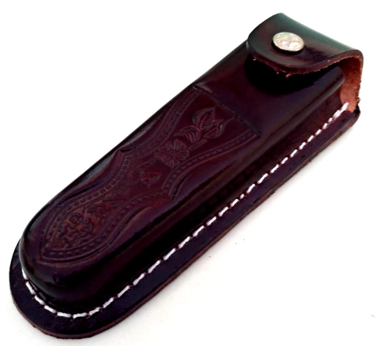 Canivete artesanal em aço inox e cabo Conduru de sangue