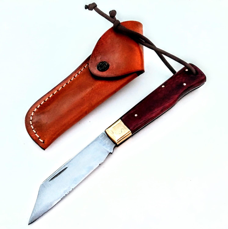Canivete artesanal esportivo tradicional em aço carbono