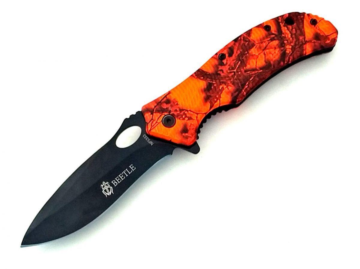 Canivete beetle aço carbono  extreme black