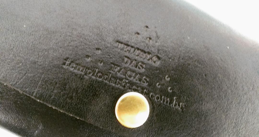 Cutelo artesanal aço carbono negro
