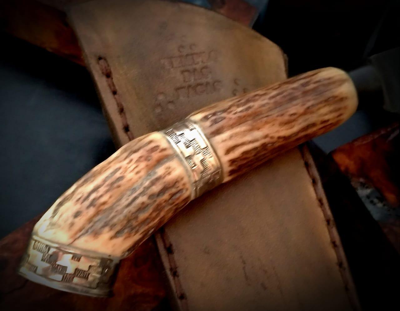 Faca artesanal antiga tesoura de tosquia