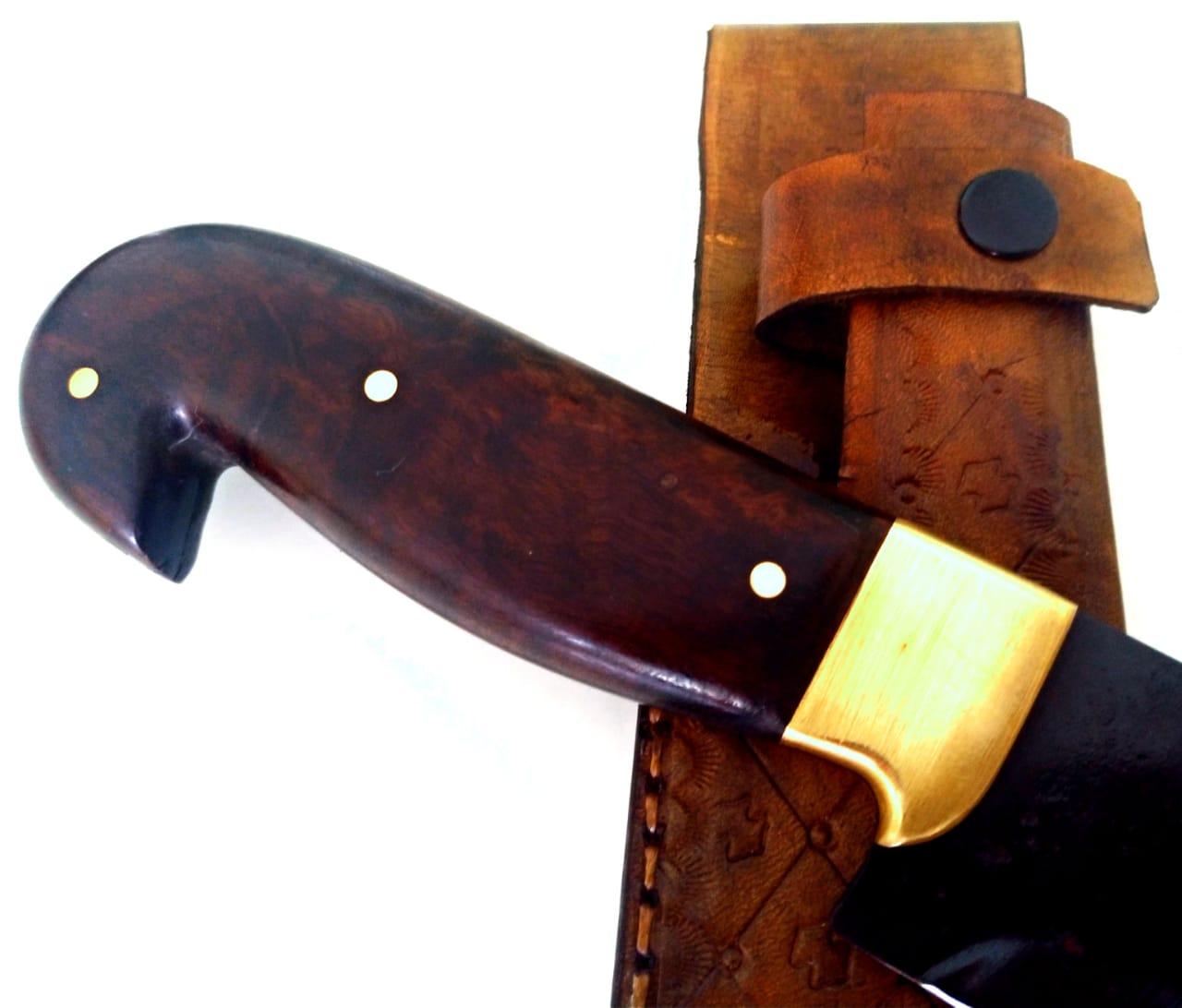 Faca artesanal butcher negra aço carbono 10 polegadas