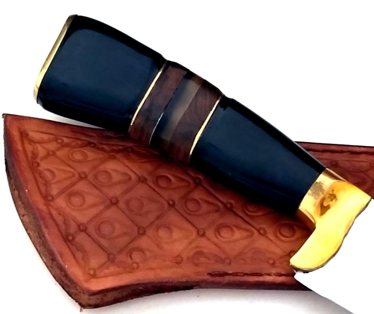 Faca artesanal campeira em aço inox 12 polegadas