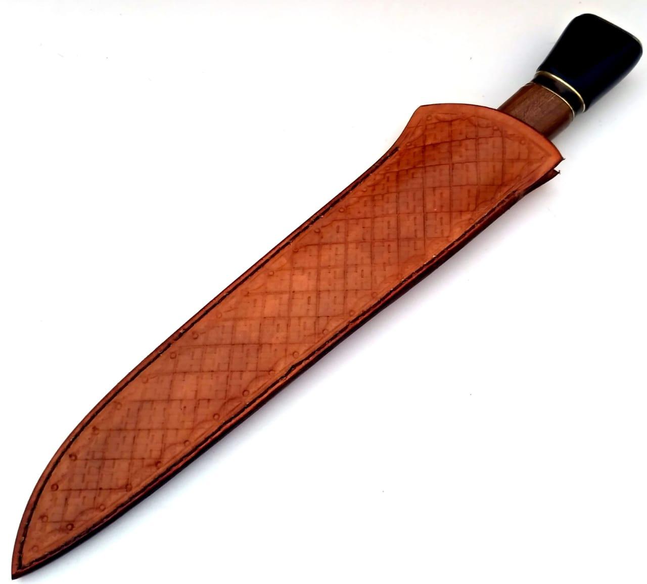 Faca artesanal campeira gaúcha integral aço inox 10 polegadas