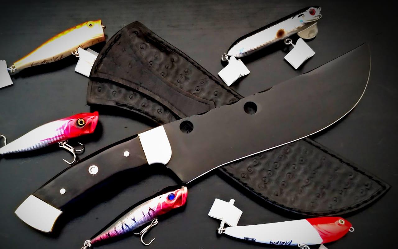 Faca artesanal coleção tucunaré açú 08 polegadas  templo das facas