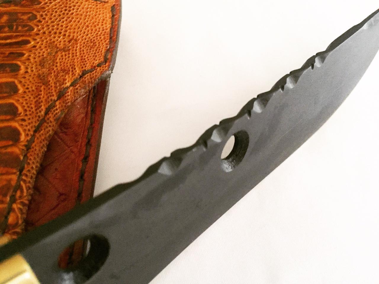Faca artesanal coleção tucunaré savage fish 08 polegadas  templo das facas