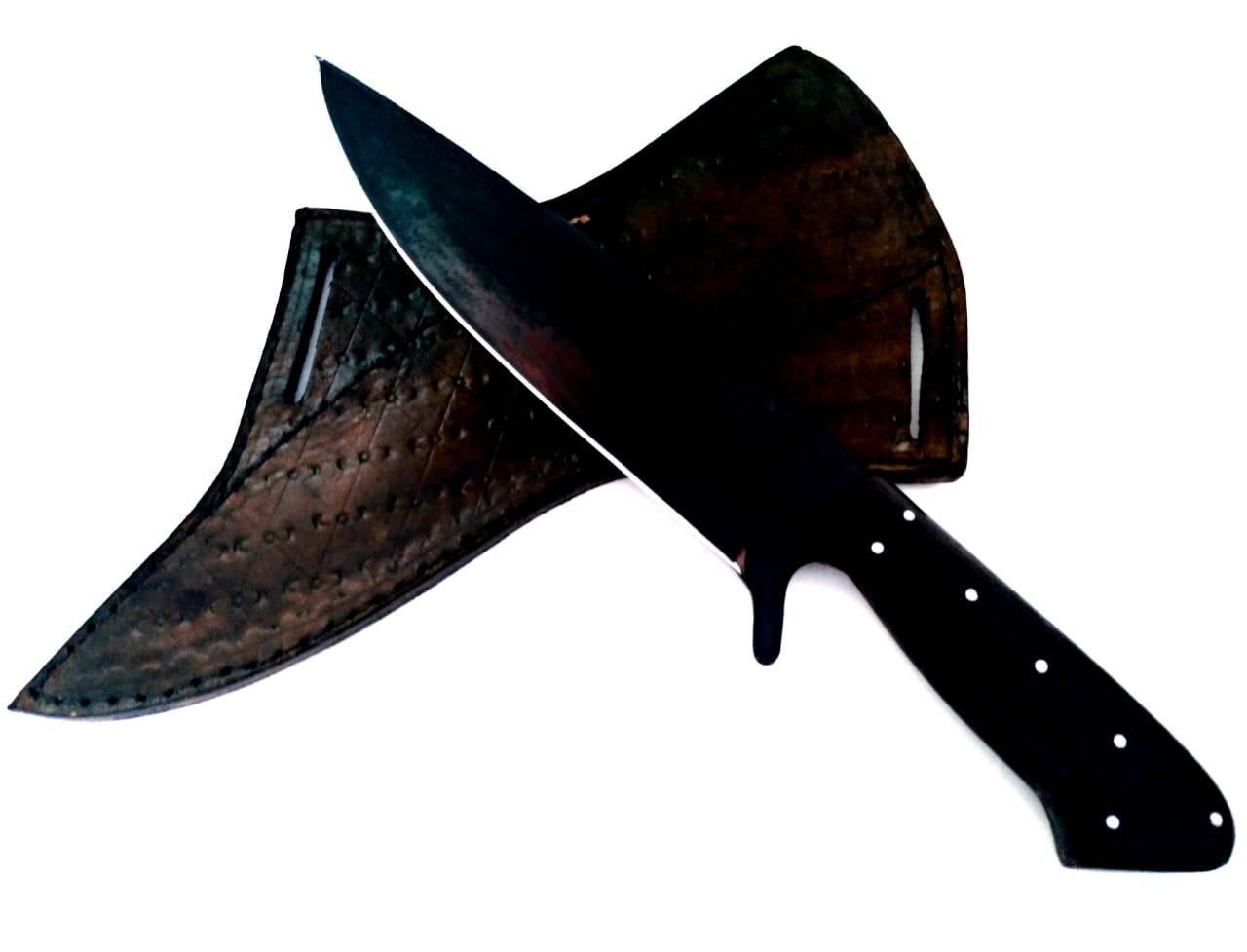 Faca artesanal de caça verraco death shadow 9 polegadas